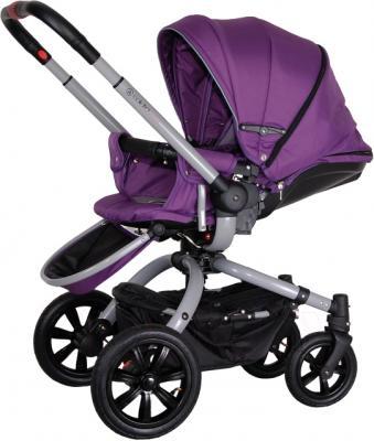 Детская универсальная коляска Coletto Messina 2 в 1 (серо-фиолетовый) - с чехлом для ног