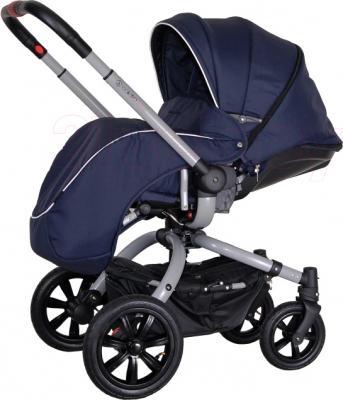Детская универсальная коляска Coletto Messina 2 в 1 (сине-белый) - с чехлом для ног