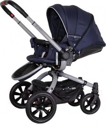 Детская универсальная коляска Coletto Messina 2 в 1 (сине-белый) - общий вид