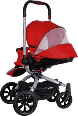 Детская универсальная коляска Coletto Messina 2 в 1 (красно-серый) - с поднятой ручкой