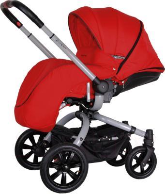 Детская универсальная коляска Coletto Messina 2 в 1 (красно-серый) - с чехлом для ног
