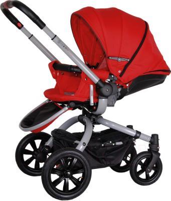 Детская универсальная коляска Coletto Messina 2 в 1 (красно-серый) - общий вид