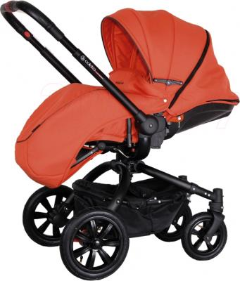 Детская универсальная коляска Coletto Messina 2 в 1 (оранжево-черный) - с чехлом для ног