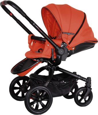 Детская универсальная коляска Coletto Messina 2 в 1 (оранжево-черный) - общий вид