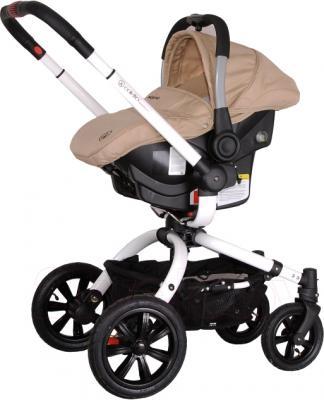 Детская универсальная коляска Coletto Messina 3 в 1 (бежево-белый) - с автокреслом