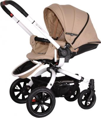 Детская универсальная коляска Coletto Messina 3 в 1 (бежево-белый) - прогулочный вариант
