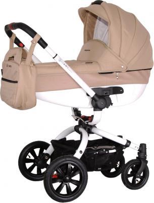 Детская универсальная коляска Coletto Messina 3 в 1 (бежево-белый) - люлька