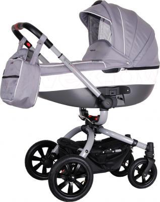 Детская универсальная коляска Coletto Messina 3 в 1 (серо-белый) - люлька