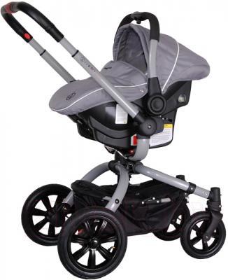 Детская универсальная коляска Coletto Messina 3 в 1 (серо-белый) - с автокреслом