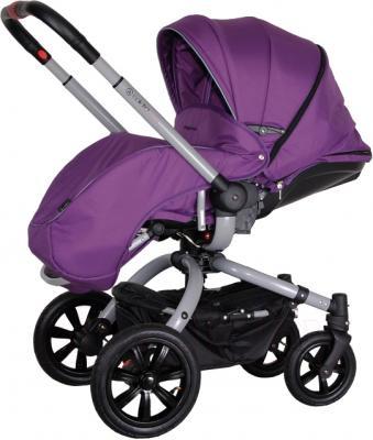 Детская универсальная коляска Coletto Messina 3 в 1 (серо-фиолетовый) - с чехлом для ног