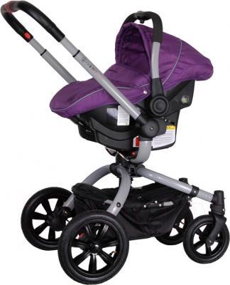 Детская универсальная коляска Coletto Messina 3 в 1 (серо-фиолетовый) - с автокреслом