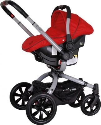 Детская универсальная коляска Coletto Messina 3 в 1 (красно-серый) - с автокреслом