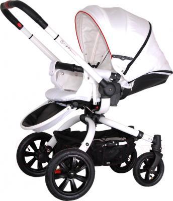 Детская универсальная коляска Coletto Messina 3 в 1 (бело-красный) - прогулочный вариант