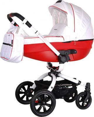 Детская универсальная коляска Coletto Messina 3 в 1 (бело-красный) - люлька