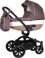 Детская универсальная коляска Coletto Messina 3 в 1 (коричнево-белый) -