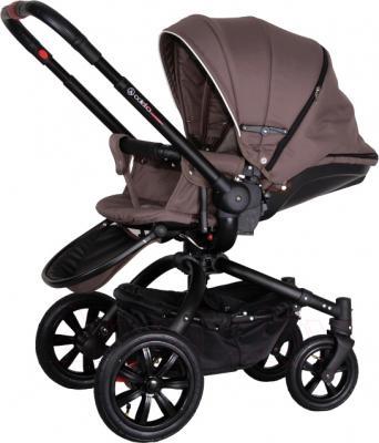 Детская универсальная коляска Coletto Messina 3 в 1 (коричнево-белый) - прогулочный вариант