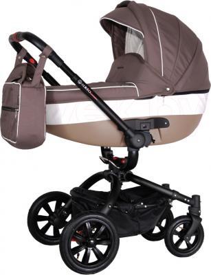 Детская универсальная коляска Coletto Messina 3 в 1 (коричнево-белый) - общий вид