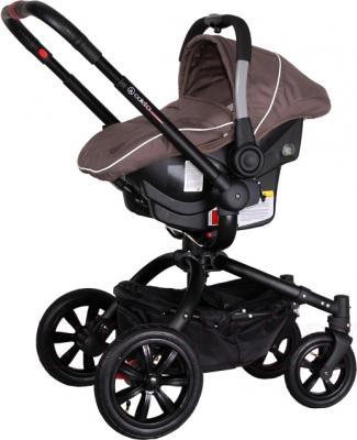 Детская универсальная коляска Coletto Messina 3 в 1 (коричнево-белый) - с автокреслом