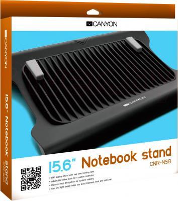 Подставка для ноутбука Canyon CNR-NS8 (Black) - в упаковке