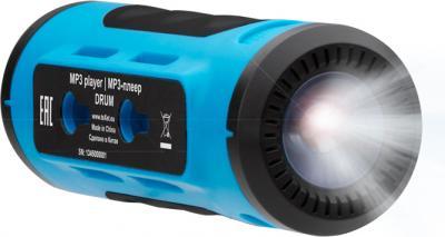 MP3-плеер TeXet Drum (синий) - функция фонарика