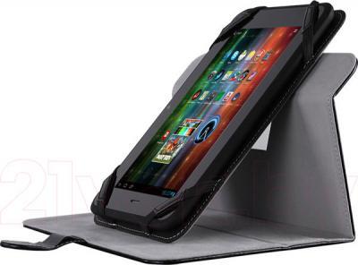 """Чехол для планшета Prestigio Universal rotating Tablet case for 8"""" PTCL0208BK (черный) - с планшетом"""