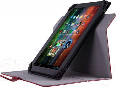 """Чехол для планшета Prestigio Universal rotating Tablet case for 8"""" PTCL0208RD (красный) - с планшетом"""