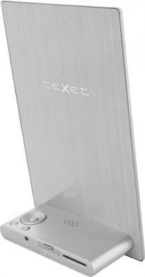 Цифровая фоторамка TeXet TF-804 (серебристый) - вид сзади