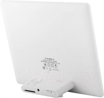 Цифровая фоторамка TeXet TF-810 (белый) - вид сзади