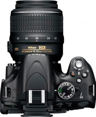 Зеркальный фотоаппарат Nikon D5100 Kit 18-55mm II - вид сверху