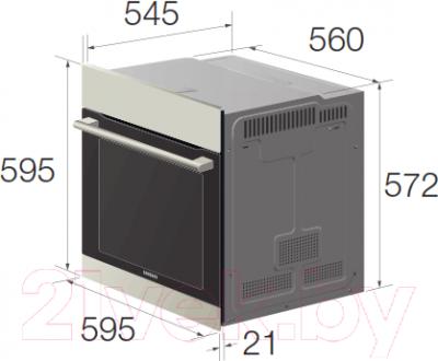Электрический духовой шкаф Samsung NV70H3350CE/WT