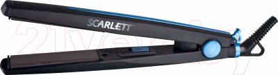 Выпрямитель для волос Scarlett SC-067 (черный/синий)