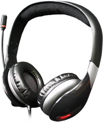 Наушники-гарнитура Qcyber Neon GH-7000 (черный) - общий вид