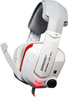 Наушники-гарнитура Qcyber Dragon GH-9000 (белый) - общий вид