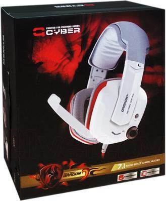 Наушники-гарнитура Qcyber Dragon GH-9000 (белый) - в упаковке