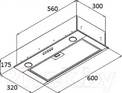 Вытяжка плоская Ciarko SL-Box II 60
