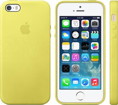 Накладной чехол Apple iPhone 5s Case MF043ZM/A (желтый) - общий вид