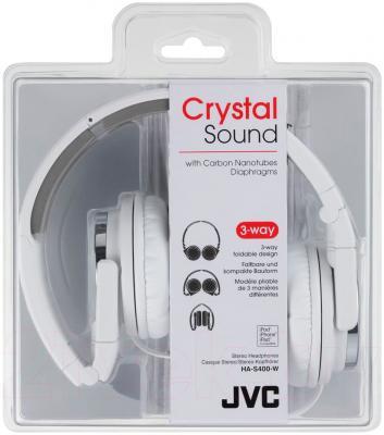 Наушники JVC HA-S400-W-E - в упаковке