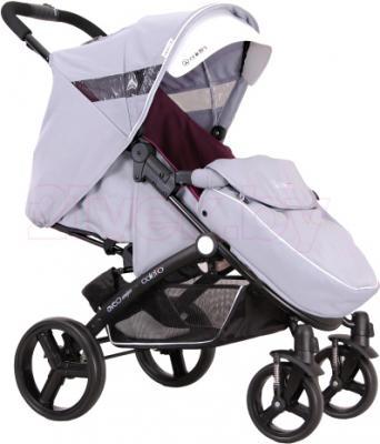 Детская прогулочная коляска Coletto Aveo Comfort (Gray) - с чехлом для ног