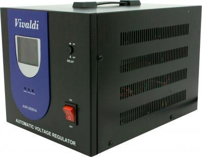 Стабилизатор напряжения VIVALDI Advance 3000 (AVR-3000VA) (LCD, Black) - общий вид