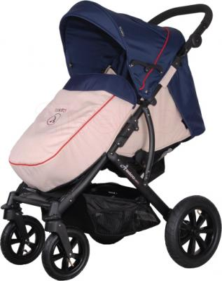 Детская прогулочная коляска Coletto Amico AW (Dark Blue) - с чехлом ног