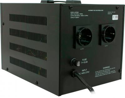 Стабилизатор напряжения VIVALDI Advance 2000 (AVR-2000VA) (LCD, Black) - вид сзади