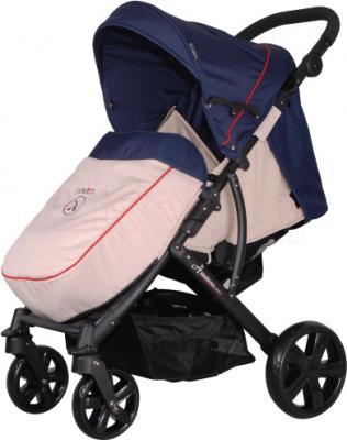Детская прогулочная коляска Coletto Amico (Dark Blue) - с чехлом для ног