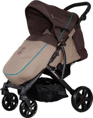 Детская прогулочная коляска Coletto Amico (Dark Brown) - с чехлом для ног