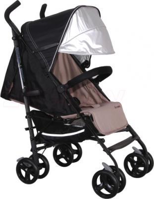 Детская прогулочная коляска Coletto Camino (Black) - с дополнительным козырьком