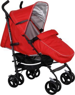 Детская прогулочная коляска Coletto Camino (Red) - с чехлом для ног