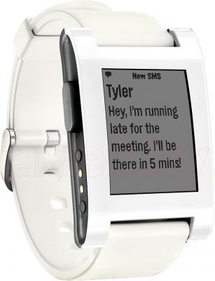 Интеллектуальные часы Pebble Technology White - общий вид