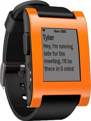 Интеллектуальные часы Pebble Technology Orange - общий вид