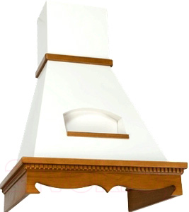 Вытяжка купольная Elikor Бельведер 90 (золотой антик/дуб рустика) - общий вид