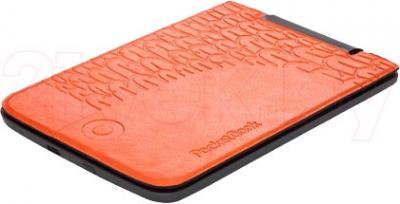 Обложка для электронной книги PocketBook Cover 515 (Black-Orange) - вид лежа