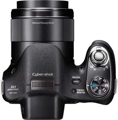 Компактный фотоаппарат Sony Cyber-shot DSC-H400 - вид сверху